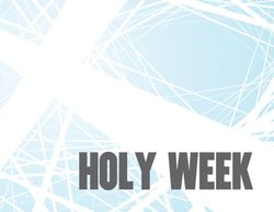 Holy Week graphic
